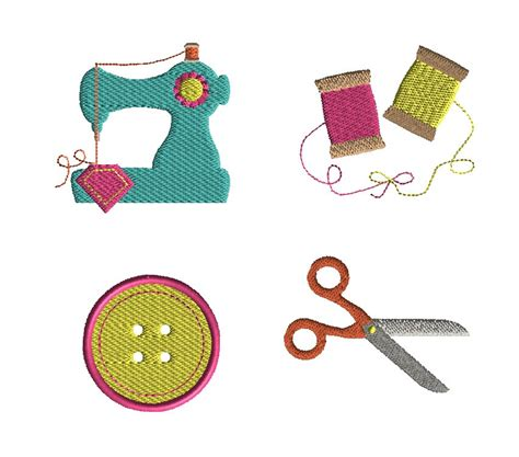 etsy embroidery pattern mini sewing set machine embroidery design set instant download