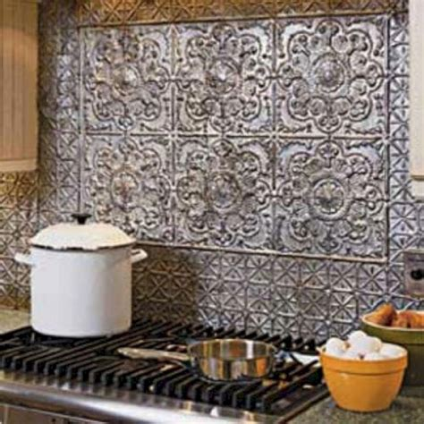 tin tile backsplash ideas 35 beautiful rustic metal kitchen backsplash tile ideas