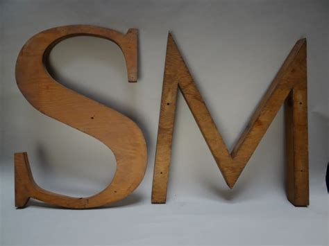 s m s m sand casting letter forms a604 sold early