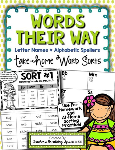 Words Their Way Parent Letter Kindergarten words their way letter name alphabetic spellers take