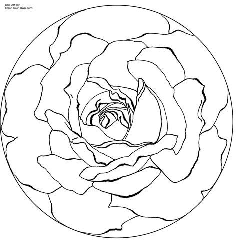 Free Coloring Pages Of Mandala