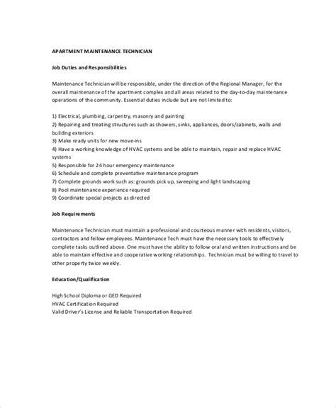Maintenance Job Description 9 Free Pdf Documents Download Free Premium Templates Maintenance Description Template