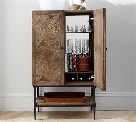 Pottery Barn Cabinet Parquet Bar Cabinet Pottery Barn