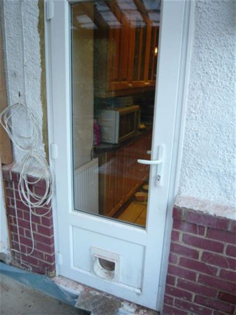 upvc glazed back door with cat flap ebay new