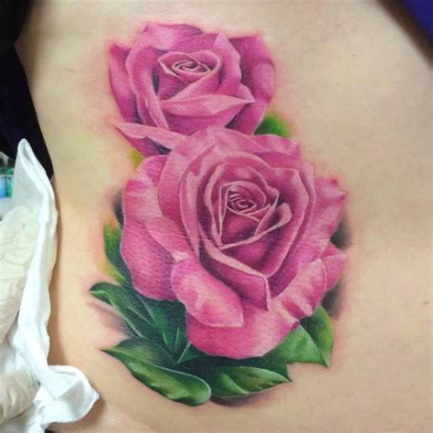real rose tattoo 51 real pink tattoos best ideas gallery