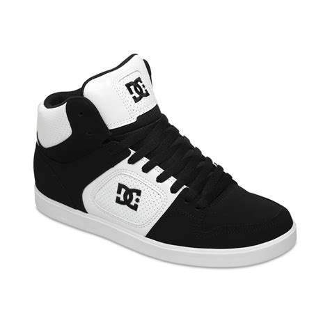 dc shoes union hi sneakers in black for black white