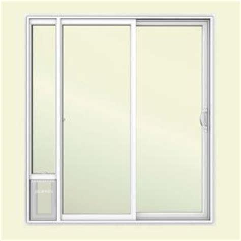 home depot patio doors jeld wen 72 in x 80 in v2500 white vinyl prehung right