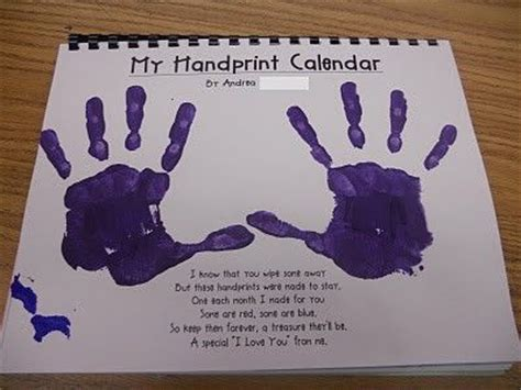 handprint calendar such a cute idea each month has a