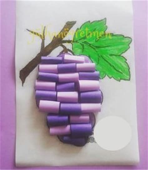 How To Make Paper Grapes - grape craft preschool preschool and homeschool