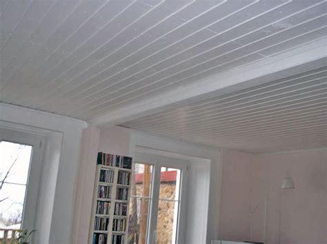 Renovation Plafond by Plafond Lambris Blanc R 233 Nover En Image