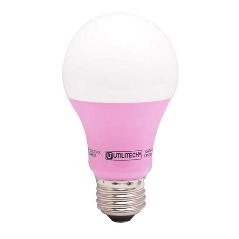 Pink Led Light Bulbs Shop Utilitech 40 W Equivalent Pink A19 Led Decorative Light Bulb At Lowes