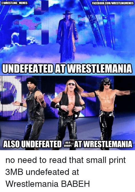 Wrestlemania Meme - funny facebook wrestlemania wrestling and world