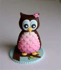 fondant owl cake cupcake topper by kimseeeun on etsy
