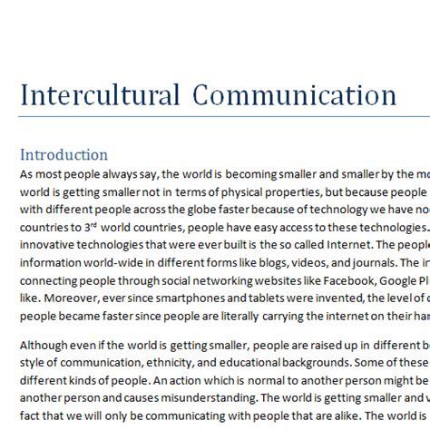Intercultural Communication Essay by It2051229 Intercultural Communication