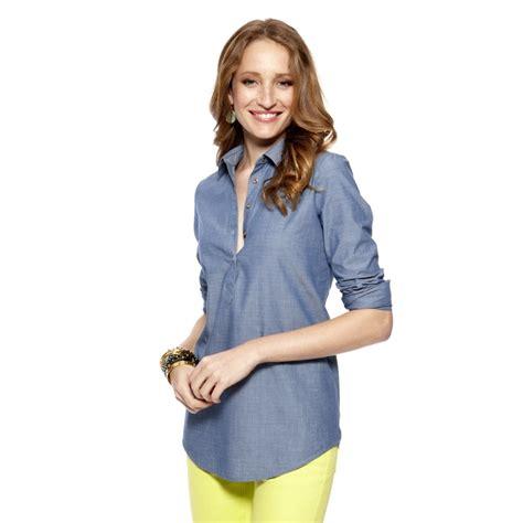 Diandra Chambray Tunic Shirt chambray tunic clothing new arrivals my pink my stuff