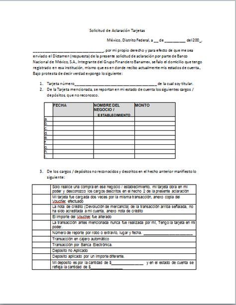 formato para de refrendun en el edo mex 2015 carta reclamo banamex gt formatos y ejemplos milformatos com