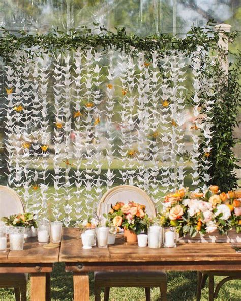 Japanese Wedding Backdrop by 1000 Ideas About Paper Cranes On Origami