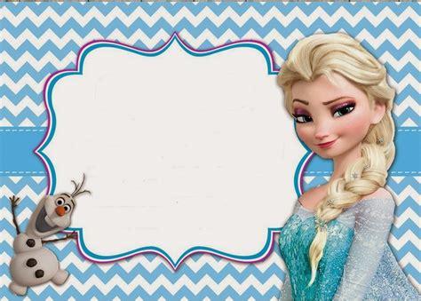 frozen templates frozen invitaciones para imprimir gratis ideas y