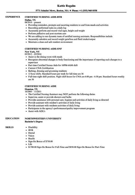 nursing aide resume sample globish me