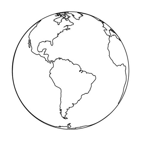 simple earth coloring page earth outline clipped by salvsnena liked on polyvore