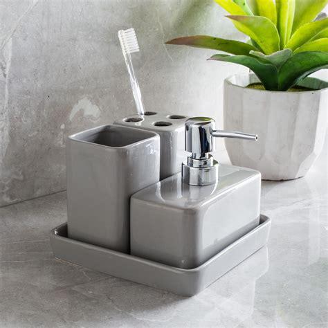 Harman Bathroom Accessories Harman Elements Bath Accessories Grey Set Of 4 Kitchen Stuff Plus