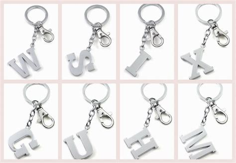 fashion letter key rings letter m keychain key chain