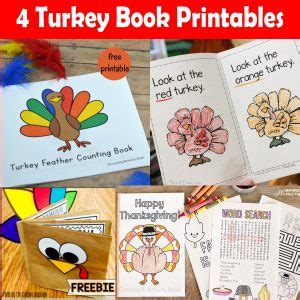 printable turkey counting book printables 4 mom free printables for busy moms craft