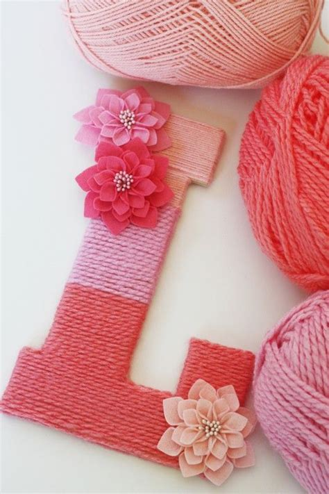yarn covered letters yarn wrapped ombre monogrammed letter yarns and
