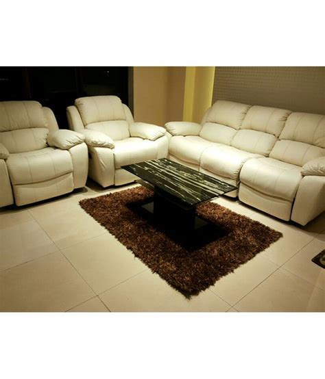 flipkart sofa set manmattan half leather club recliner sofa set 3 1 1