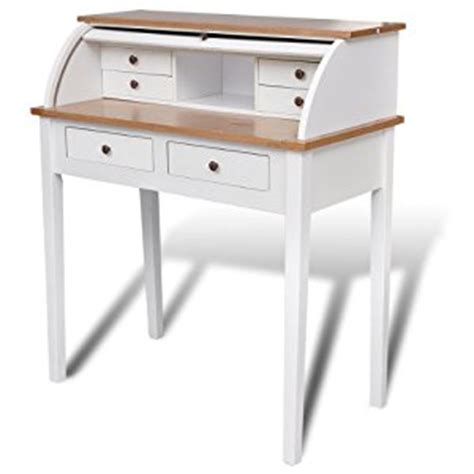 writing desk antique white finish co uk kitchen