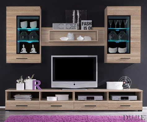 schlafzimmermöbel eiche anbauwand samra eiche sonoma dekor 240 cm wohnwand mit bel