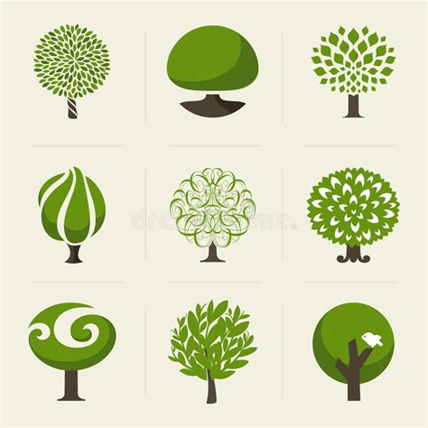 Tree Collection Of Design Elements Stock Vector Illustration Of Icon Botany 32428346 Tree Collection Of Design Elements Stock Vector Illustration Of Icon Botany 32428346