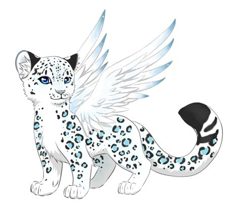 snow leopard clipart anime baby pencil and in color snow