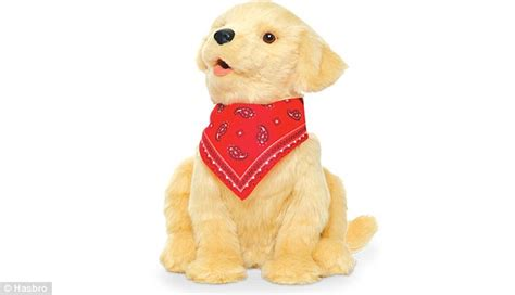 companion golden retriever hasbro unveils robot puppy to keep seniors company responds to touch and voice