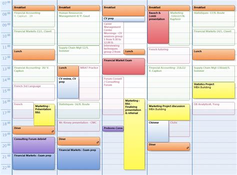 Calendrier Hec Hec Mba Diary Of A Hec Mba 2011 Student 187 Assignments