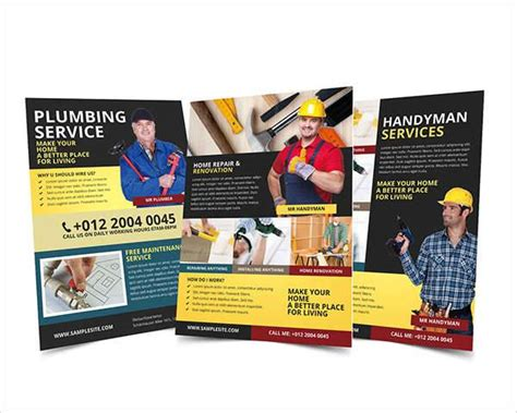 Handyman Plumbing Services by 48 Service Flyer Designs Printable Psd Ai Vector Eps Format Design Trends