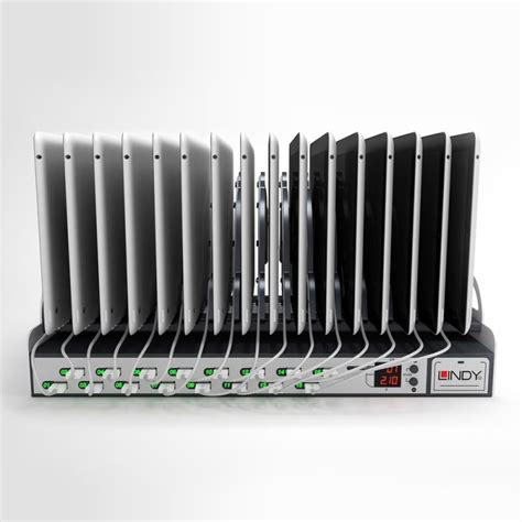 tablet charging station 16 port usb tablet charging station from lindy uk