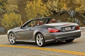 Mercedes Sl550 Used 2014 Mercedes Sl550 Side View Rear In Motion Photo 7
