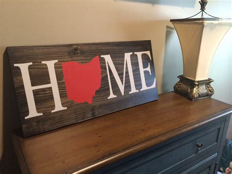 State Of Home Decor by Home Wood Sign Custom Ohio State Sign Wood Sign Rustic