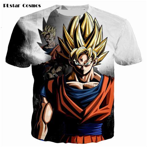 Tshirt Saiyan Fightmerch newest classic anime z saiyan 3d t shirt black goku t shirts galaxy t