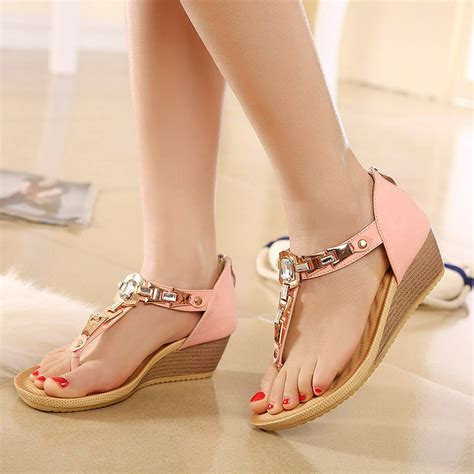Heels Wedges Dress Flatshoes Sepatu 2016 new s sandals wedges shoes summer