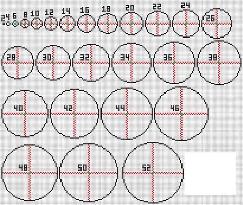 minecraft circle template pixel circle chart search minecraft charts