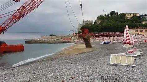 bagni san nazaro corso italia ripascimento della spiaggia dei bagni san