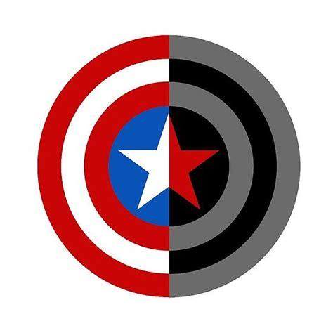 Capt America Logo 1 captain america bucky barnes logo sam2mydean redbubble