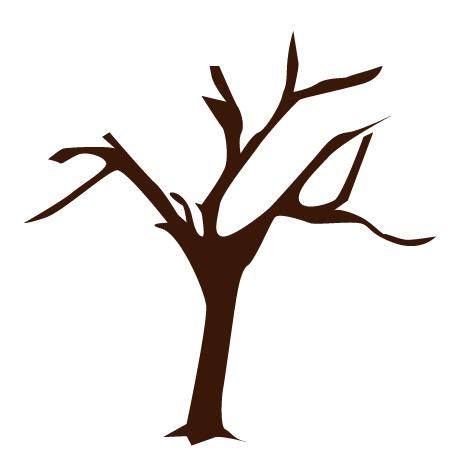 tree trunk with branches template bare tree template cliparts co