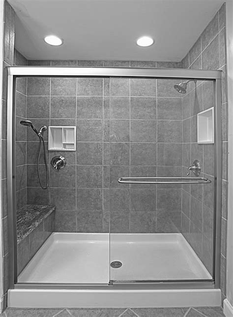 bathroom shower stall ideas white bathroom interior with concrete manity with black ceramic vessel sink and glass shower