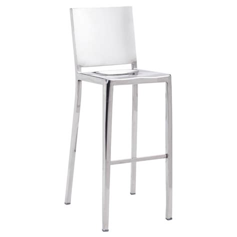 Stainless Bar Stools Contemporary by Modern Zaina Bar Stool Polished Stainless Steel Zuri