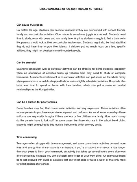 Curricular Activities In High School Essay by Essay On Co Curricular Activities Persepolisthesis Web Fc2