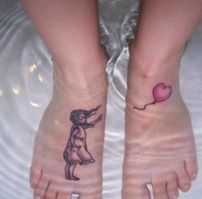 girl with balloon tattoo balloon tattoos