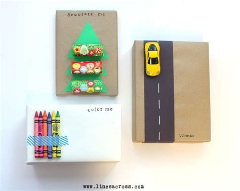 creative ideas for gift wrapping interactive gift wrap for lines across